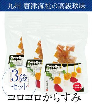 【まとめ買い10%OFF】九州 唐津海(からつみ)社の 高級珍味「コロコロからすみ (15g)」×3個セット