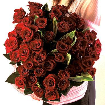 赤バラ 花束 60本 フラワーギフト