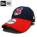 【あす楽】New Era THE LEAGUE 9FORTY ADJUSTABLE CAP - ニューエラ / MLB アジャスタブル キャップ / インディアンス / CLEIND / Baseball Cap