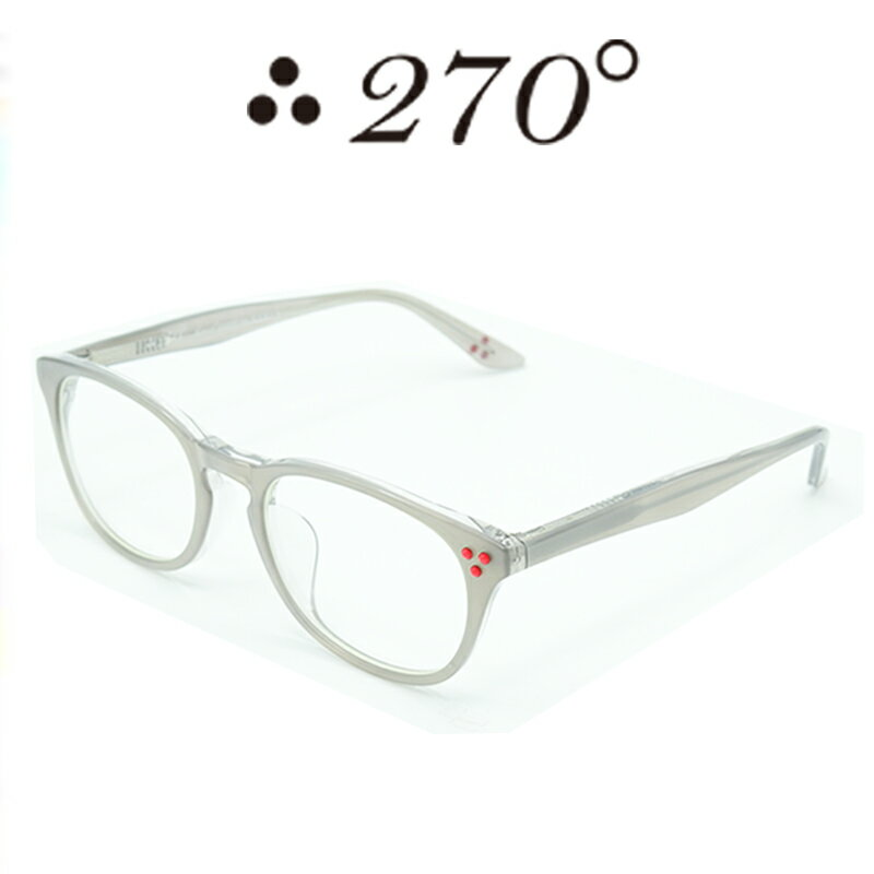 眼鏡・サングラス, 眼鏡  270 two-seventy degrees HNL-STEEL-CLR-RED