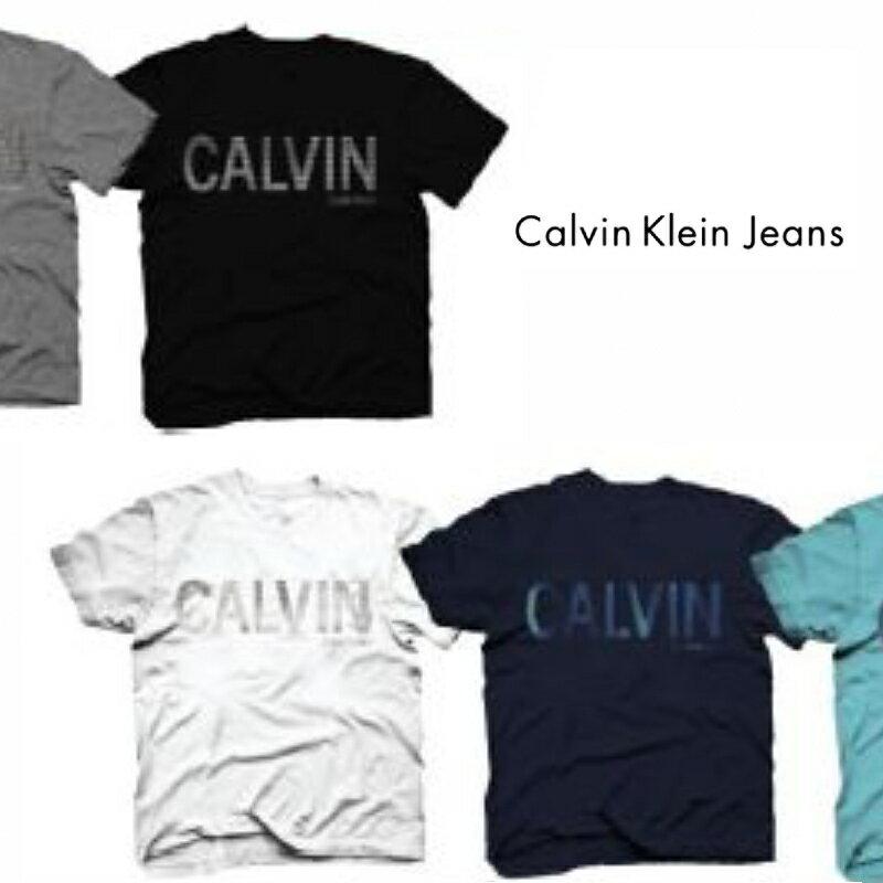 トップス, Tシャツ・カットソー Calvin Klein Jeans ( ) CAPITAL LOGO TEE T SHORT SLEEVE TEE Crew Neck T-Shirt 41VC866