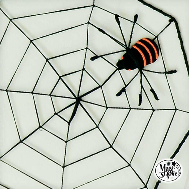 ハロウィン 飾り 【 蜘蛛の巣 ネット (大) 】41cm×41cm ウォールステッカー 壁紙 ハロウィン雑貨 インテリア パーティグッズ パーティー クモの巣 蜘蛛 くも クモ 白黒 モノトーン 黒 装飾 壁面飾り