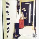ウォールステッカー おしゃれ hello モノトーン 英字 北欧 受注生産 英文 英文字 24×102cm 転写式 貼ってはがせる 賃貸OK 白黒 アルファベット 玄関 トイレ スタイリッシュ 新生活 かわいい かっこいい 海外風 メール便