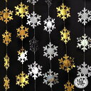 クリスマス 【 雪の結晶 ガーランド 】 飾り 飾り付け 誕...