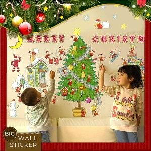 ゆうメール送料無料★かわいいX'masの妖精がクリスマスの準備に大わらわ☆シール式ウォールステ...