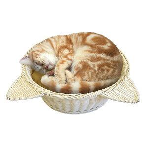 【あす楽】マルカン ニャン太の 猫鍋 ラタン調ベッド ベージュ 4906456558057 #w-147169【猫ベッドSALE】