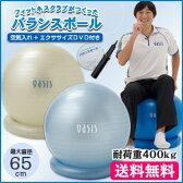 バランスボール 65cm リング付 (エクササイズDVD&ハンドポンプ付)【送料無料】【楽ギフ_包装】【あす楽対応】
