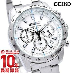 【送料無料】p_10セイコー SEIKO クロノグラフ SSB025 SSB025P1 メンズ 腕時計 ホワイト クロノ...