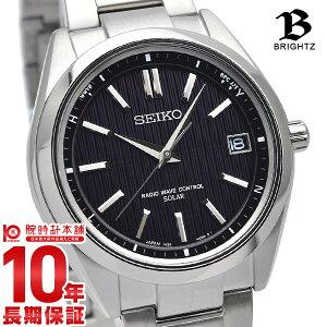 セイコー ブライツ BRIGHTZ ソーラー電波 10気圧防水 ブラック×シルバー SAGZ083 [正規品] メンズ 腕時計 時計【あす楽】
