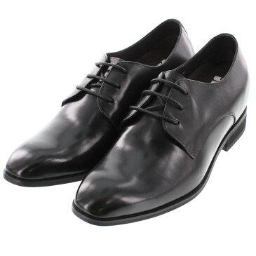 【7cmUP】 +7cmUP シークレットシューズ 7_biz_010 ビジネスタイプ ビジネスシューズ 靴 結婚式 本革 7cm背が高くなる シークレットブーツ シークレット メンズ ブラック 紐靴