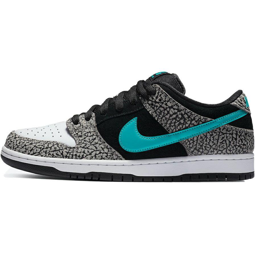 メンズ靴, スニーカー NIKE DUNK LOW PRO SB ATMOS ELEPHANT MEDIUM GREYBLACK-WHITE-CLEAR JADE BQ6817-009