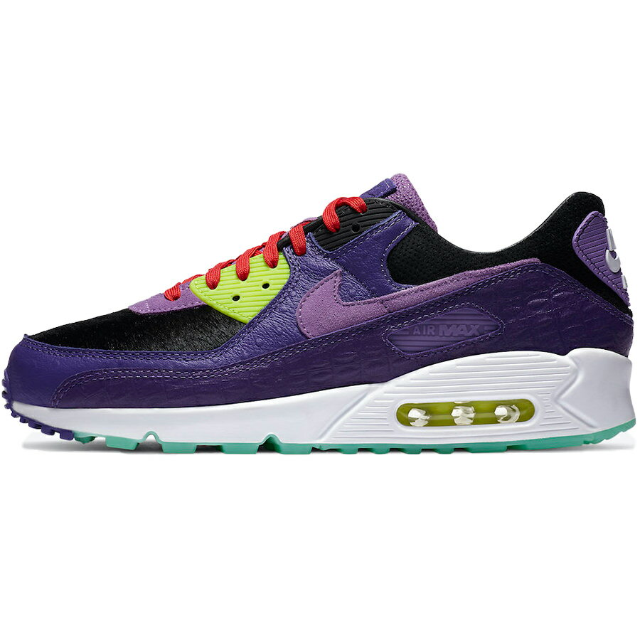 メンズ靴, スニーカー NIKE AIR MAX 90 EXOTIC ANIMAL PACK - VIOLET BLEND 90 - BLACKPURPLE-VOLT-MINT -- CZ5588-001