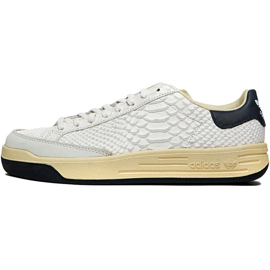 メンズ靴, スニーカー ADIDAS ORIGINALS ROD LAVER CONSORTIUM LEATHER PACK - PYTHON CORE WHITECORE WHITECOLLEGIATE NAVY FY4491