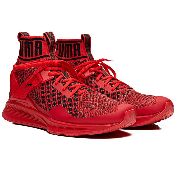 メンズ靴, スニーカー PUMA Ignite 3 evoKNIT 3 High Risk Red-Puma Black-High Risk red 189697-10 harusportd19