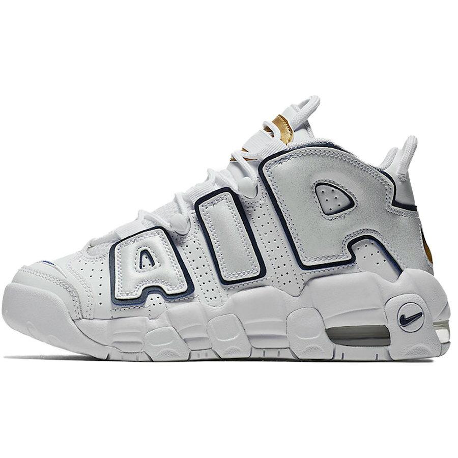 レディース靴, スニーカー NIKE AIR MORE UPTEMPO GS WHITEMIDNIGHT NAVYMETALLIC GOLD 415082-109 harusportd19