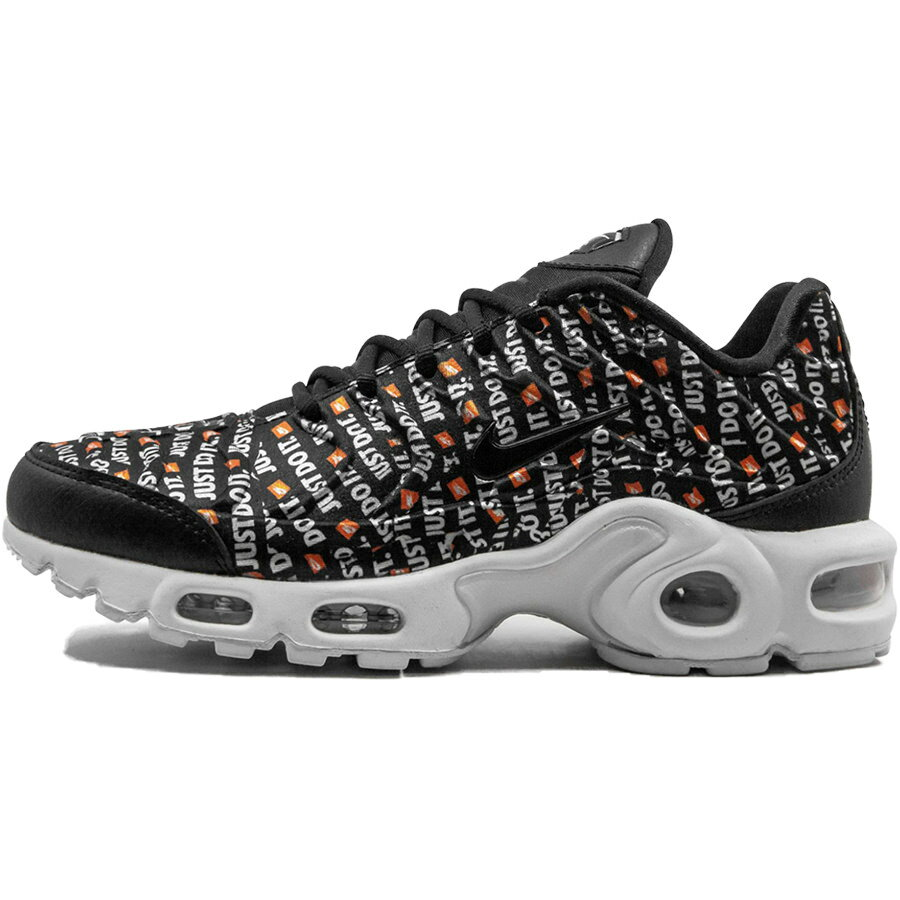 レディース靴, スニーカー NIKE WMNS AIR MAX PLUS SE JUST DO IT PACK BLACKWHITETOTAL ORANGE 862201-007