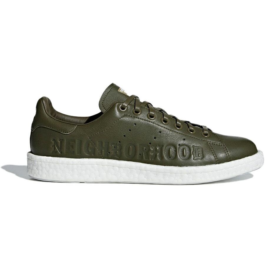 メンズ靴, スニーカー ADIDAS ORIGINALS CONSORTIUM NEIGHBORHOOD STAN SMITH BOOST NBHD CALI THORNHILL DEWITT TRACE OLIVEFTWR WHITE B37342