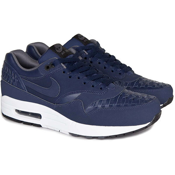 メンズ靴, スニーカー NIKE Air Max 1 Woven 1 Midnight Navy Black-Dark Grey-Midnight Navy 725232-400 harusportd19