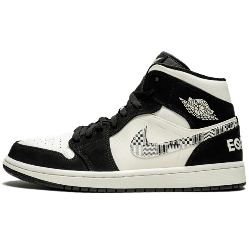 メンズ靴, スニーカー NIKE AIR JORDAN 1 MID SE EQUALITY BLACKBLACK-SAIL-WOLF GREY -- 852542-010