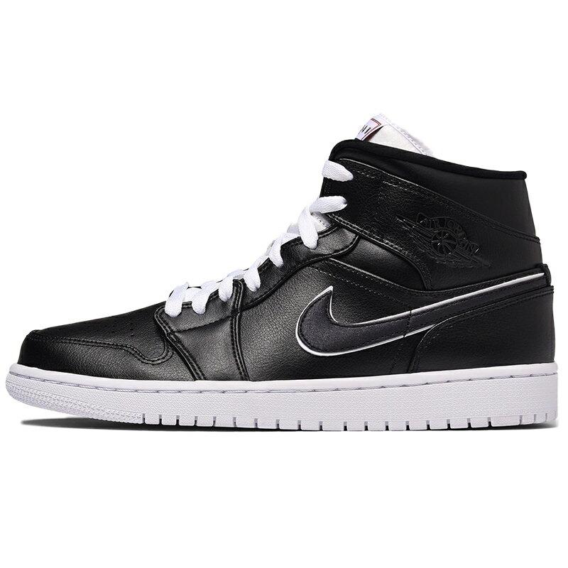メンズ靴, スニーカー NIKE AIR JORDAN 1 MID MAYBE I DESTROYED THE GAME BLACKWHITE-BLACK - 852542-016