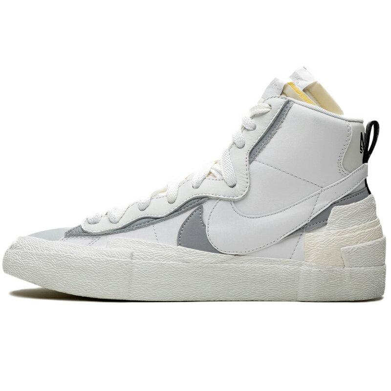 メンズ靴, スニーカー NIKE SACAI X BLAZER MID WHITE GREY WHITEWOLF GREY BV0072-100