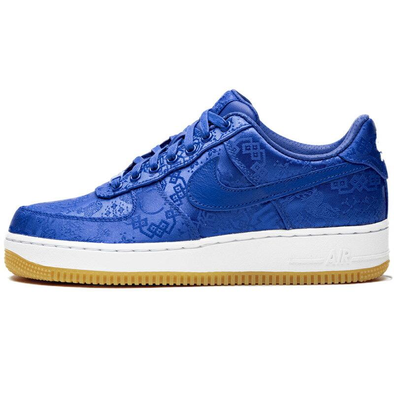 メンズ靴, スニーカー NIKE CLOT X AIR FORCE 1 PRM ROYAL SILK GAME ROYALWHITE-GUM LIGHT BROWN - CJ5290-400