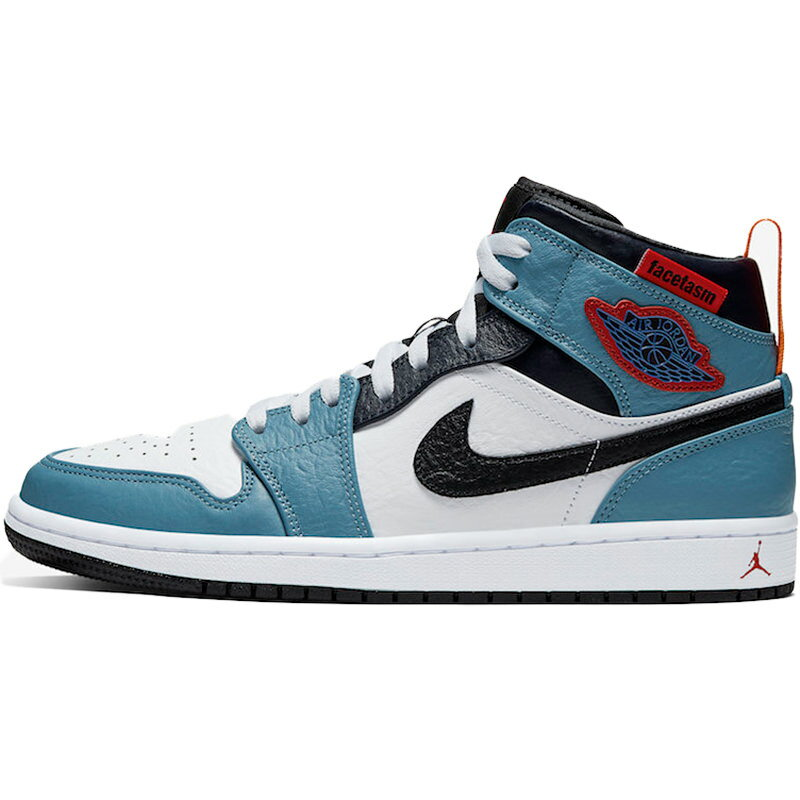 メンズ靴, スニーカー NIKE FACETASM X AIR JORDAN 1 MID FEARLESS WHITELIGHT BLUE-NAVY - CU2802-100