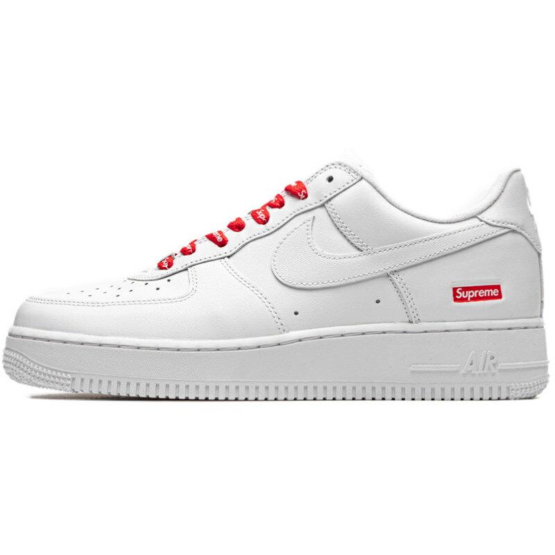 メンズ靴, スニーカー NIKE SUPREME X AIR FORCE 1 LOW BOX LOGO - WHITE - WHITEWHITE-WHITE CU9225-100