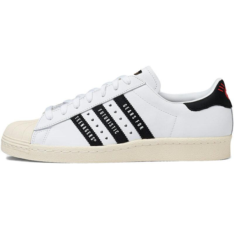 メンズ靴, スニーカー ADIDAS ORIGINALS HUMAN MADE X SUPERSTAR GEARS FOR FUTURISTIC TEENAGERS - WHITE BLACK CLOUD WHITECORE BLACKOFF WHITE FY0728