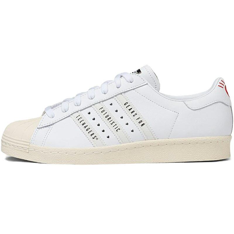 メンズ靴, スニーカー ADIDAS ORIGINALS HUMAN MADE X SUPERSTAR GEARS FOR FUTURISTIC TEENAGERS - WHITE CORE BLACKCLOUD WHITEOFF WHITE FY0730