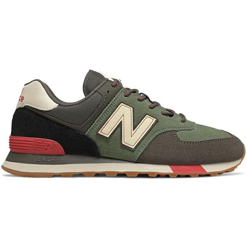 メンズ靴, スニーカー NEW BALANCE 574 CAMO GREEN WITH TEAM RED ML574JHR
