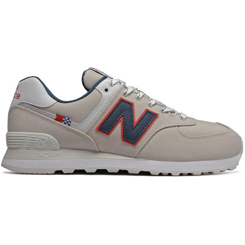 メンズ靴, スニーカー NEW BALANCE 574 LINEN FOG WITH WHITE ML574SOM