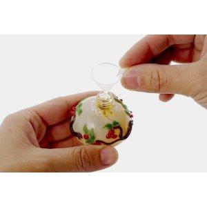ミニ骨壷(ガラス骨壷)光のしずくキャンドル(高さ5.5cm×直径3.2cm)◆分骨つぼ・骨壺・遺骨入れ◆手元供養