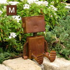ガーデン ブリキ ロボット 置物(Mサイズ)(4667)