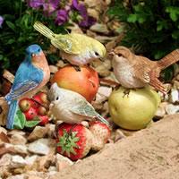 【置物】可愛い小鳥・小鳥のオーナメント(お庭/玄関/ポーチ)フルーツバード ミニオーナメン...