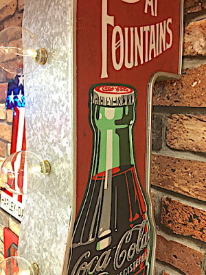 【最大60%OFFタイムセール開催中】アメリカン雑貨コカコーラグッズCOKEオフザウォールLEDサインICECOLDROUND照明ライト間接照明パブグッズバーグッズ壁掛け-BS0150