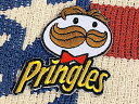 【送料無料】アメリカン雑貨 ワッペン アップリケ Pringles プリングルス アイロンパッチ ファッション小物 カスタマイズ お菓子 ポテトチップス