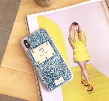 送料込み きらきらおしゃれスマホケース iPhoneX iPhoneXS 携帯ケース スマホケース モバイルケース キラキラ グリッター iphoneケース おしゃれスマホケース 携帯ケースカバー 韓国 mikiwuu ミキウー Sky 人気 かわいい ブルー 水色