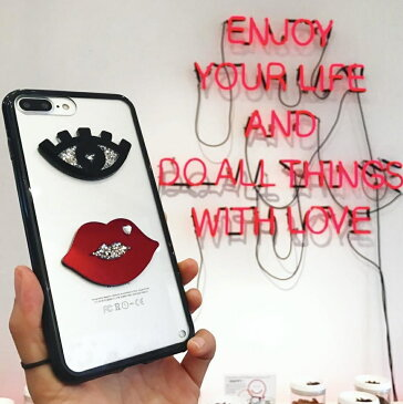送料込み mikiwuu  ミキウー Bling Lip/Eye iPhoneXSMAX 携帯ケース スマホケース モバイルケース キラキラ グリッター iphoneケース おしゃれスマホケース スマホケース おしゃれスマホケーススマホケース 携帯ケースカバー 韓国