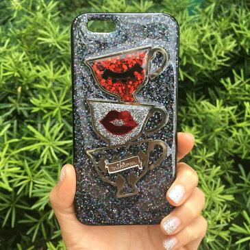 送料込み かわいいきらきらスマホケース iPhoneXSMAX 携帯ケース スマホケース モバイルケース キラキラ グリッター おしゃれスマホケース かわいい おしゃれ 人気 iphoneケース ラメ 携帯ケースカバー韓国 mikiwuu ミキウー SweetTea
