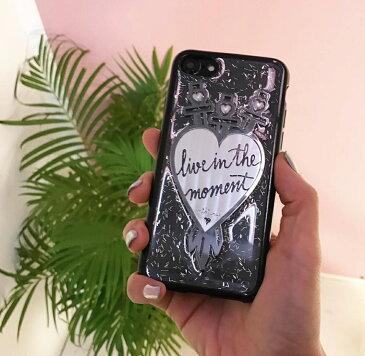 送料込み   おしゃれスマホケース iPhoneXR iphoneケース iphone 携帯ケース スマホケース モバイルケース キラキラ グリッター おしゃれスマホケース 人気 かわいい おしゃれ 携帯ケースカバー 韓国 mikiwuu ミキウー Heart Swords
