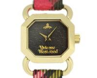 ヴィヴィアンウエストウッド腕時計レディースVIVIENNEWESTWOODVV085BKBRRAVENSCOURTウォッチマルチカラーチェック/ゴールド
