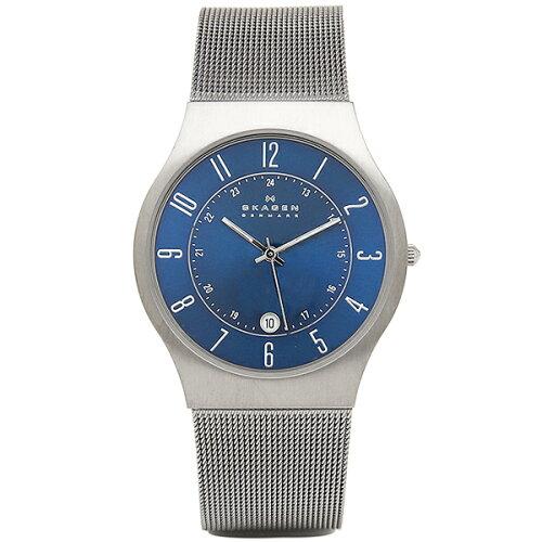スカーゲン 時計 メンズ SKAGEN 233XLTTN ウルトラスリム メッシュ 腕時計 ウォッチ シルバー/ブル...