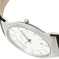スカーゲン時計メンズSKAGEN233XXLSLCウルトラスリムメッシュ腕時計ウォッチブラック/ホワイト【new0323】