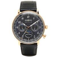 ツェッペリン時計メンズZEPPELIN703937039-3HINDENBURG腕時計ウォッチネイビー/ローズゴールド