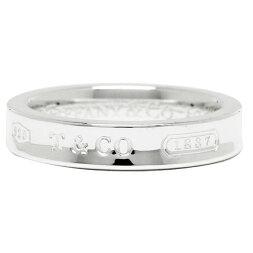 ティファニーリングアクセサリーTIFFANY&Co.1837ナローベーシックリングSS指輪シルバー