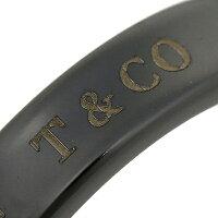 ティファニーリングTIFFANY&Co.ナローリングNARROWRINGミッドナイトMIDNIGHTブラックチタン指輪シルバー