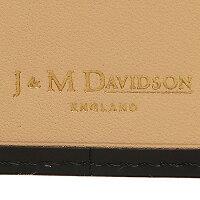 ジェイアンドエムデヴィッドソン財布J&MDAVIDSON1001372675WALLETWCOINCASEMOCKCROCK2つ折り財布BLACK