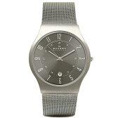 スカーゲン 時計 メンズ SKAGEN 233XLTTM TITANIUM DATE チタン 腕時計 ウォッチ グレー/チタン