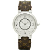 ルイヴィトン 時計 LOUIS VUITTON Q12MGB タンブール モノグラム PM 腕時計 ウォッチ ホワイト/ブラウン